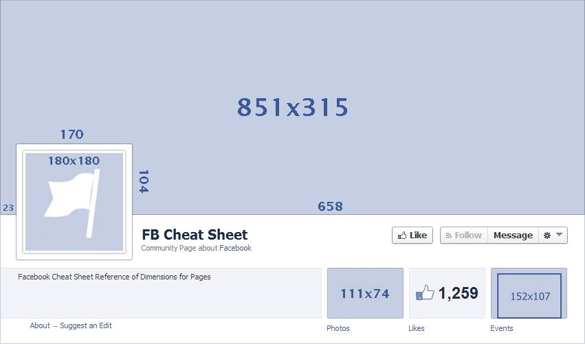 Facebook Cheat Sheet Photo Sizes Boucher Co