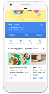 Phone with a screen showcasing Posting For Google